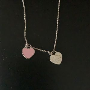 Return to Tiffany pink heart necklace
